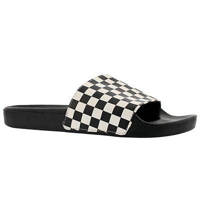 Mns Slide One blk/wht slide sandal