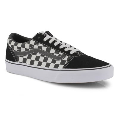 Mns Ward-Checker blk/wht lace up snkr