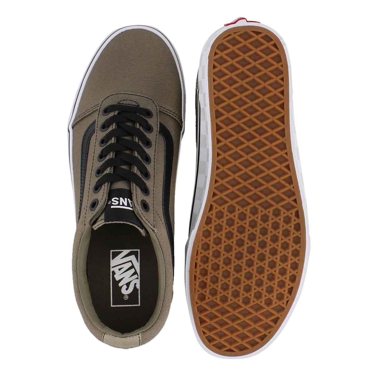 Mns Ward dusky grn/wht lace up sneaker