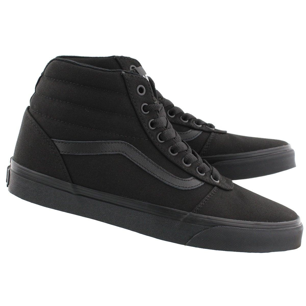 Mns Ward Hi blk/blk lace up sneaker