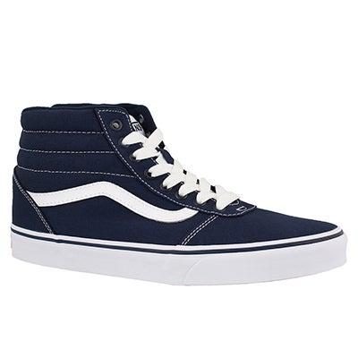 Mns Ward Hi blu/wht lace up sneaker