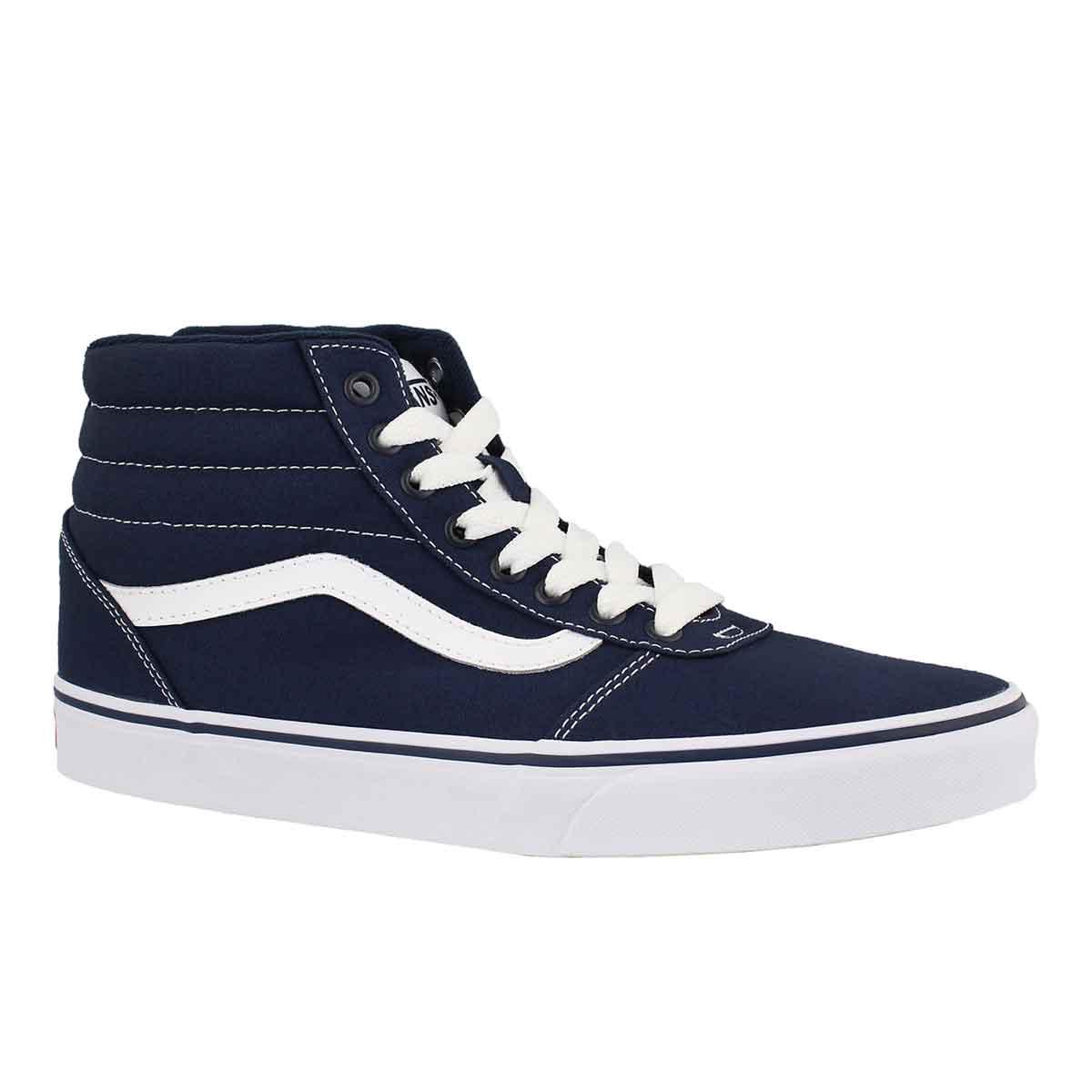 Men's WARD HI blue/white lace up sneakers