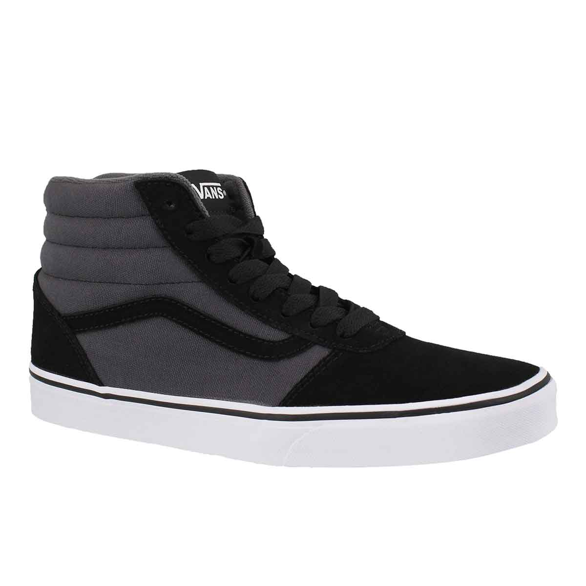 Men's WARD HI blk/asphalt lace up sneakers