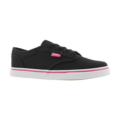 Grls Atwood Low blk/pnk lace up sneaker