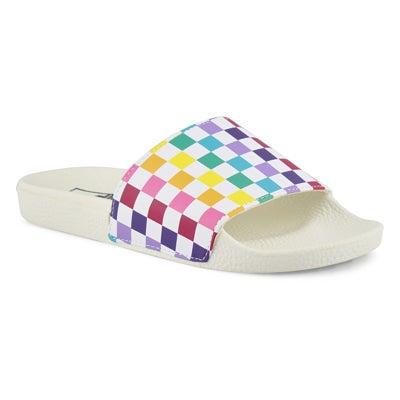 Lds SlideOne-PartyCheck mlt slide sandal