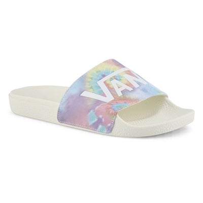 Lds Slide One-TieDye multi slide sandal