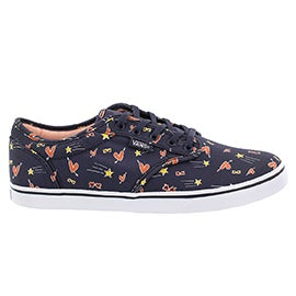 Lds Atwood Low nvy/multi lace up sneaker