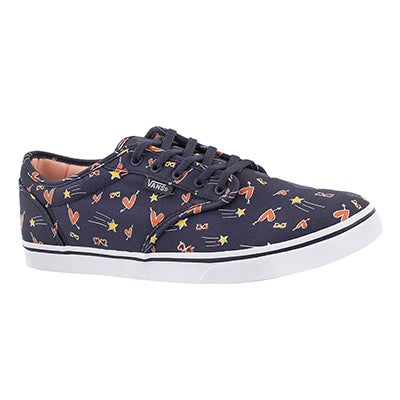 Vans Women's ATWOOD LOW navy/multi lace up sneakers