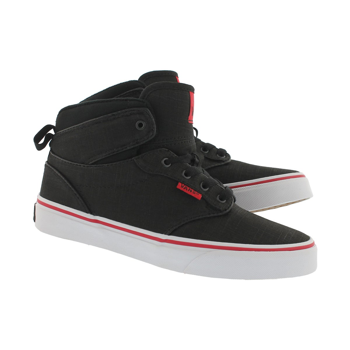Bys Atwood Hi blk/red lace up sneaker