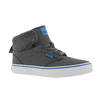 Vans Boys' ATWOOD HI grey/blue lace up sneaker