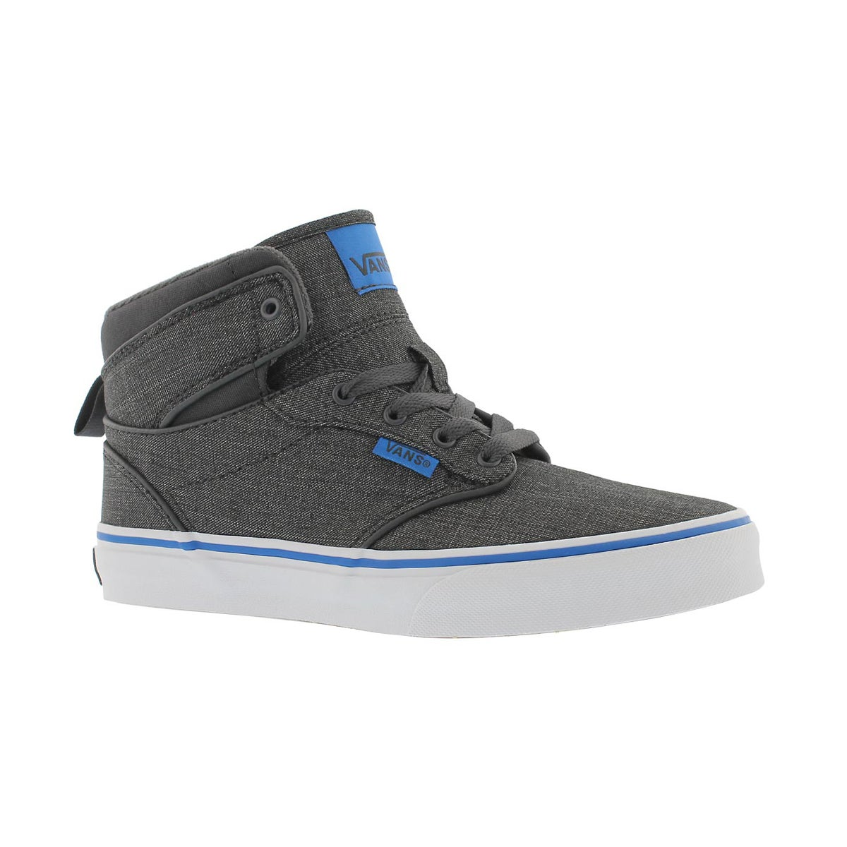 Boys' ATWOOD HI grey/blue lace up sneaker