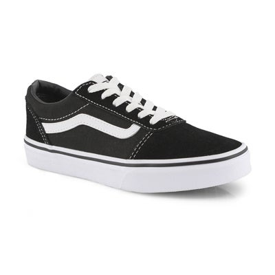 Vans Boys'  WARD black/white lace up sneaker