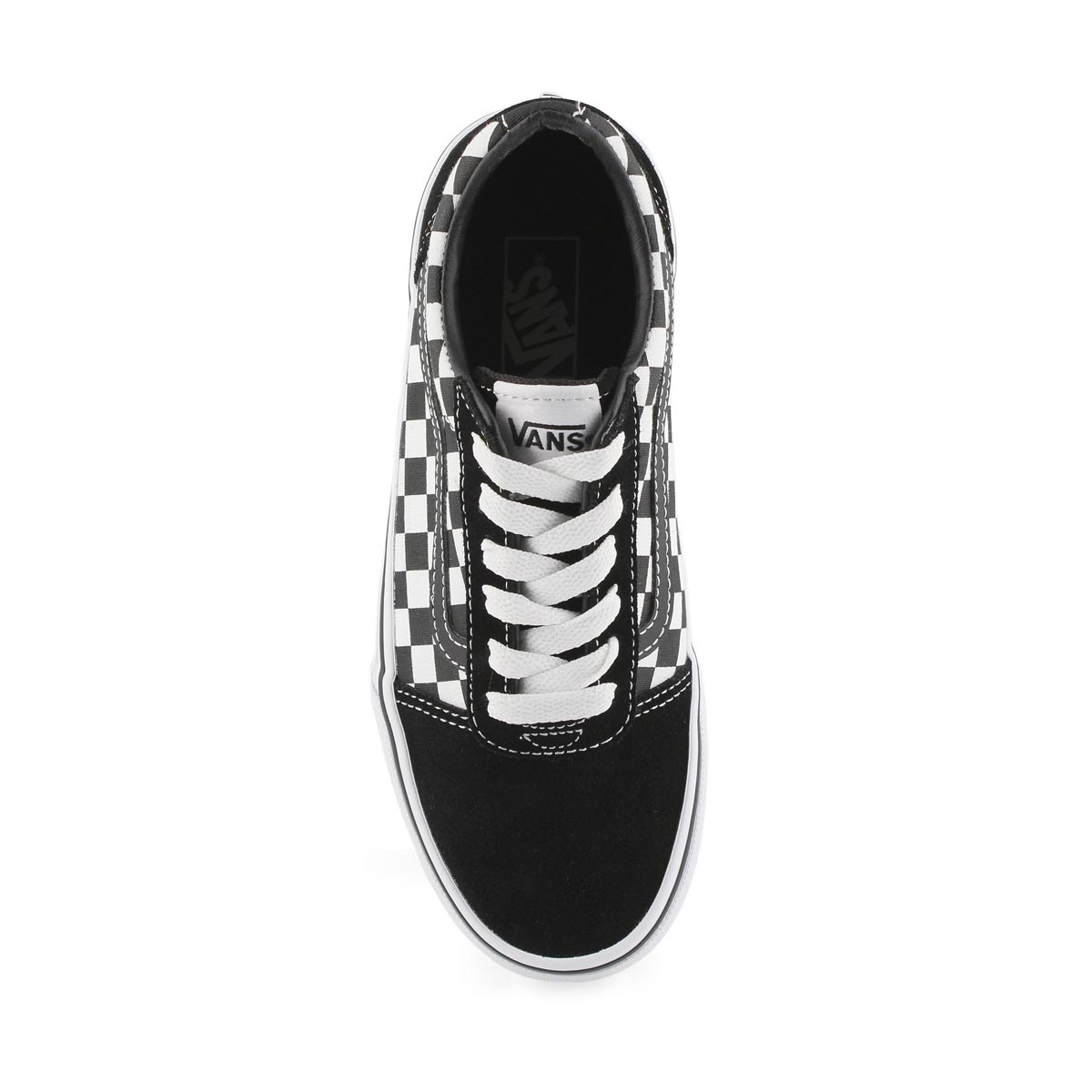 Bys Ward blk/wht chkr lace up sneaker