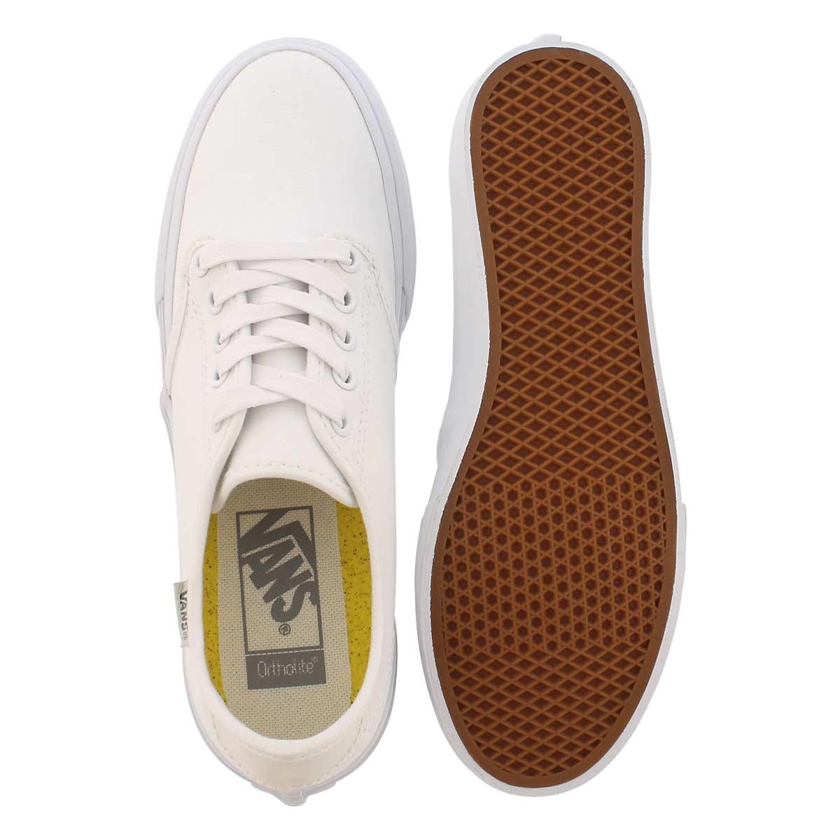 Lds Camden Deluxe wht/wht laceup sneaker