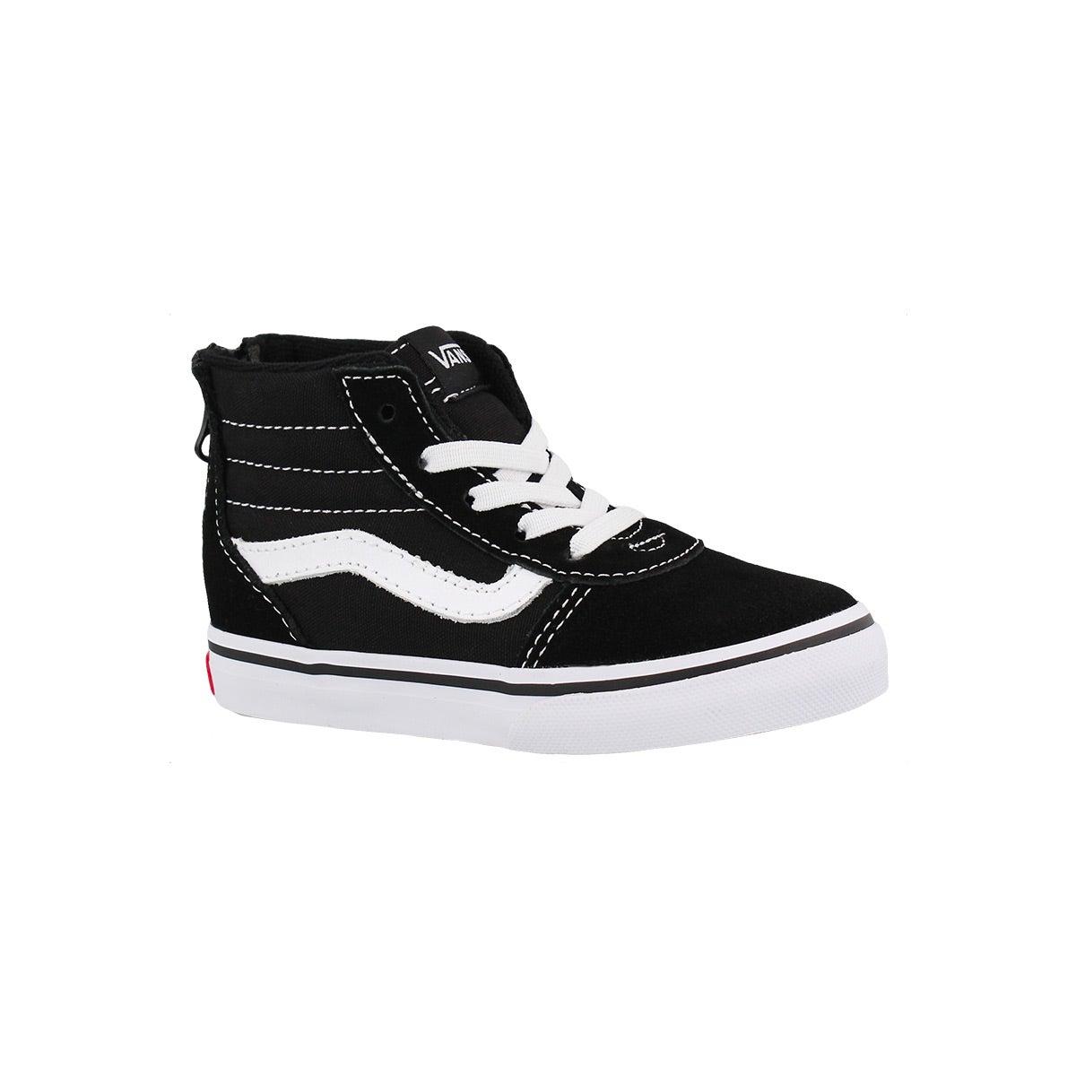 Infants' WARD HI ZIP black/white canvas sneakers