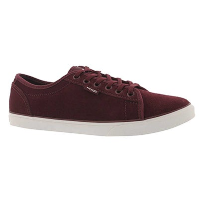 Lds Rowan burgundy laceup sneaker