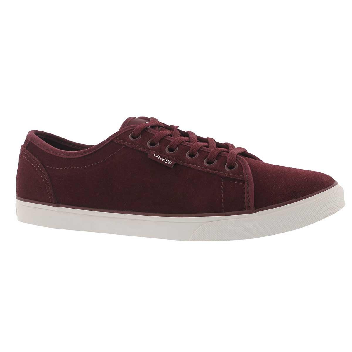 Women's ROWAN burgundy laceup sneakers