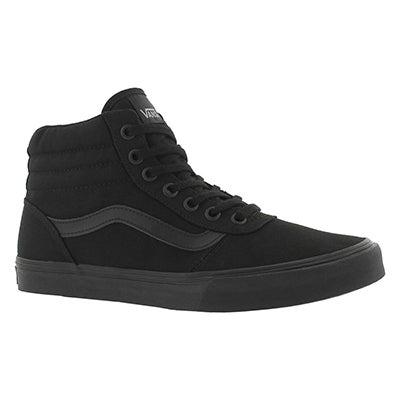 Lds Maddie Hi blk/blk laceup sneaker