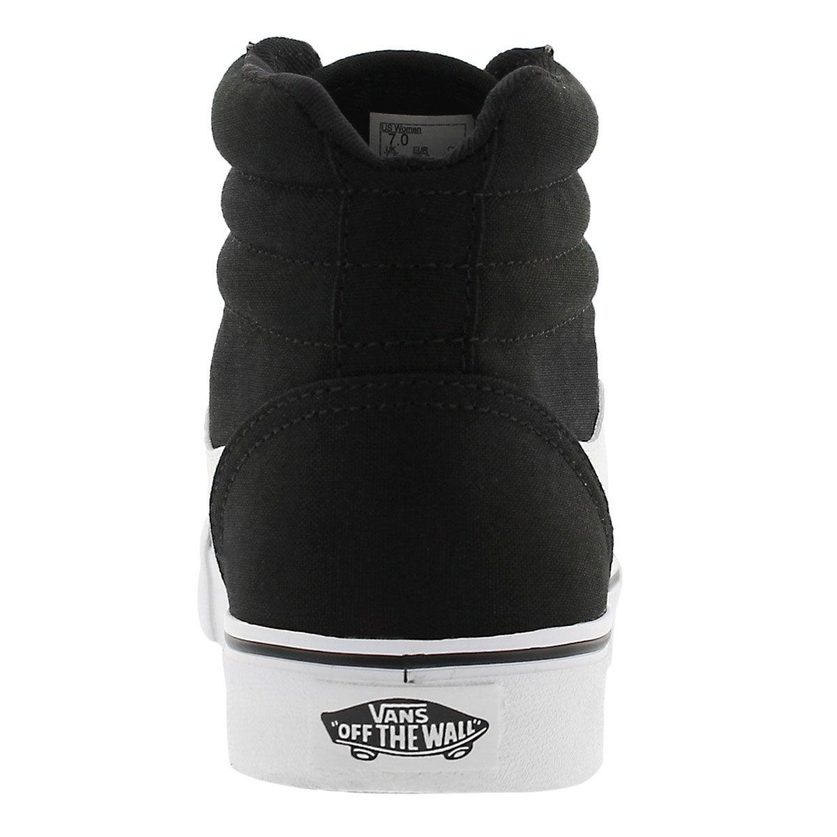 Lds Maddie Hi blk/wht laceup sneaker