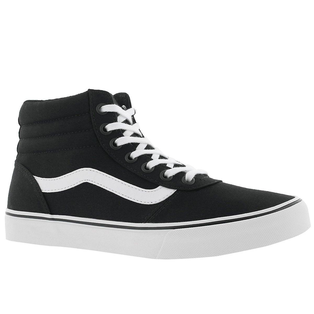 Women's MADDIE HI black/white laceup sneakers
