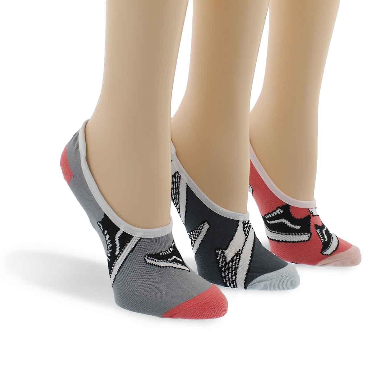 Lds Basic Canoodle assort. ankle sock 3p
