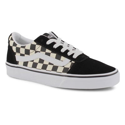 Lds Ward-Checker blk/wht lace up snkr