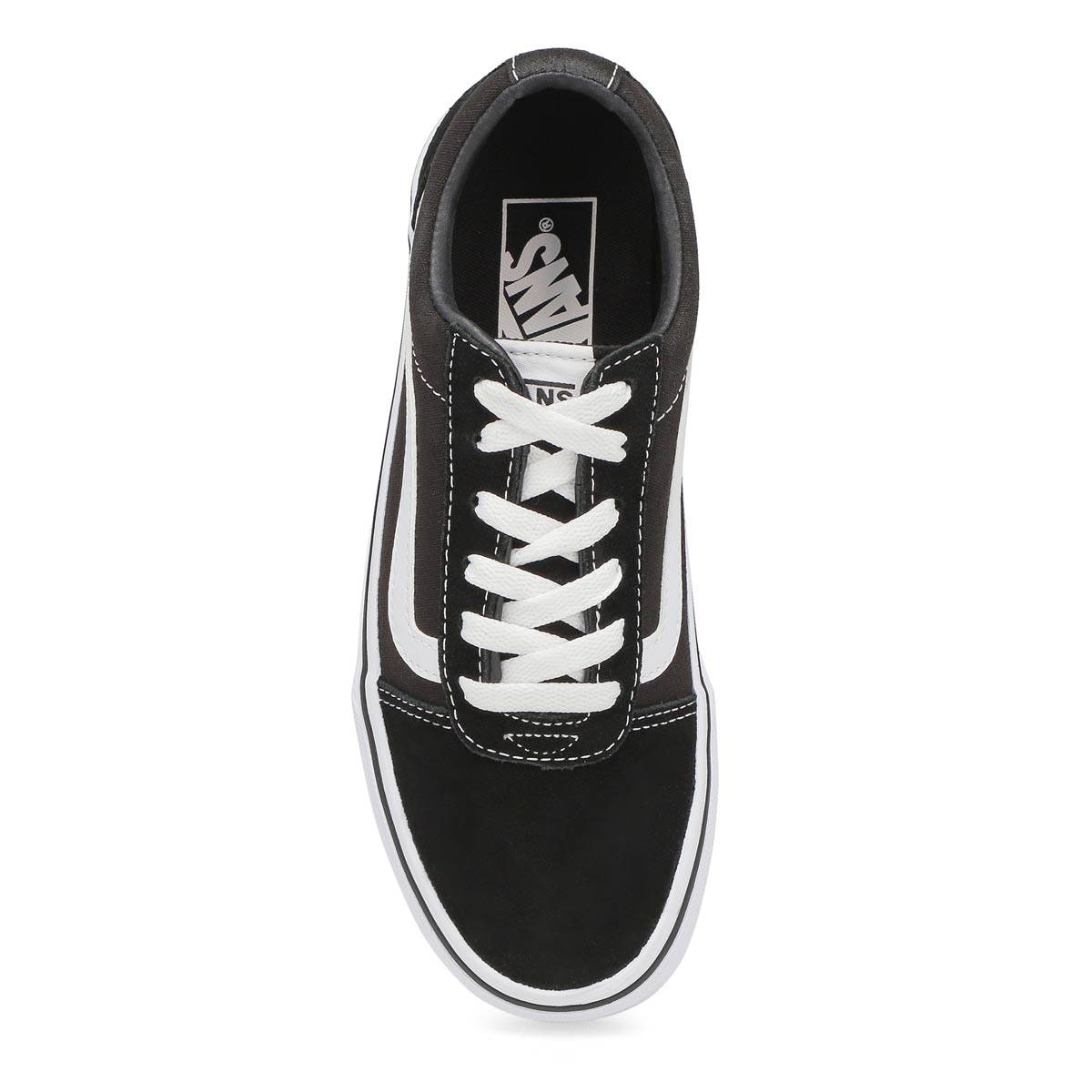 Lds Ward blk/wht lace up sneaker