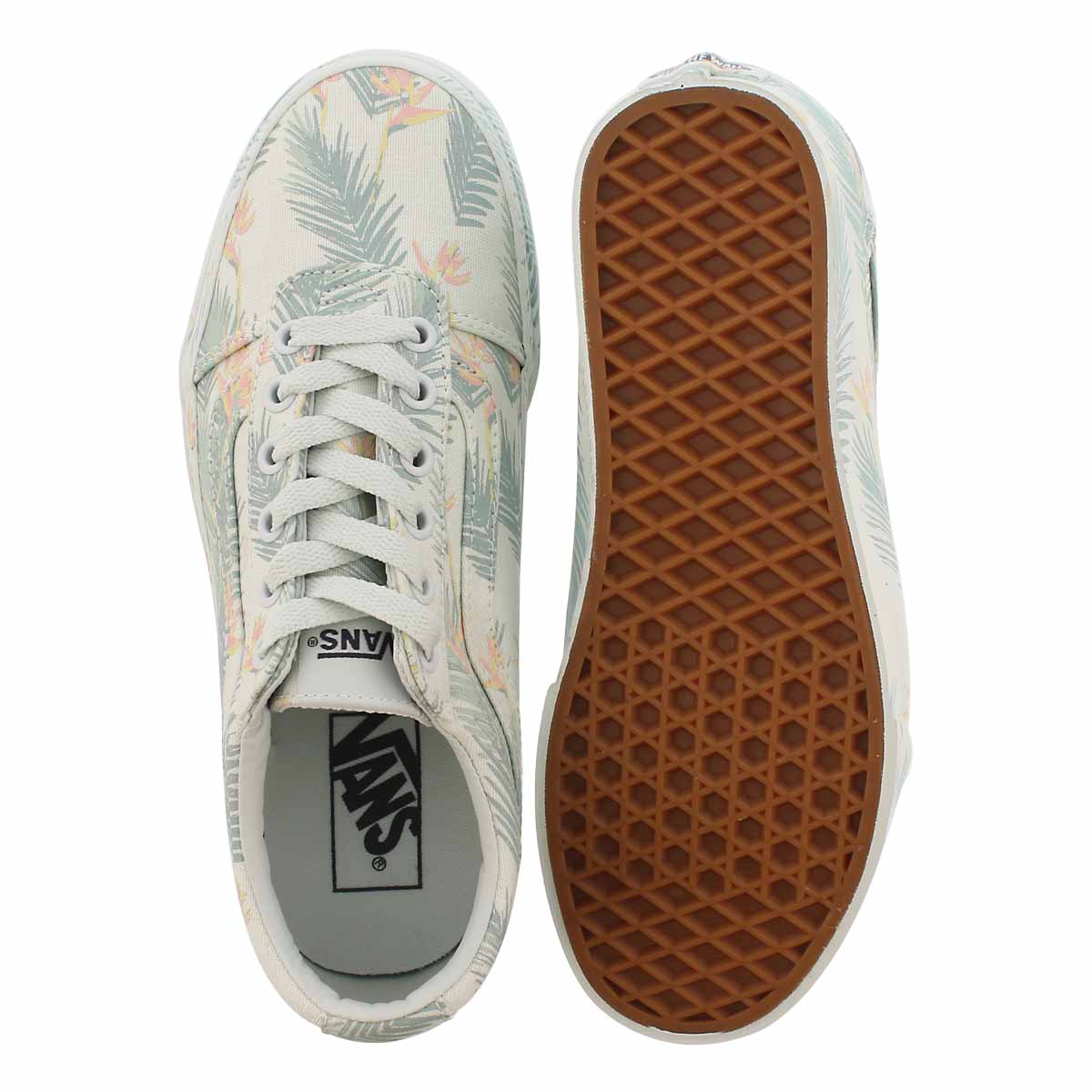 Lds Ward tropical green lace up sneaker