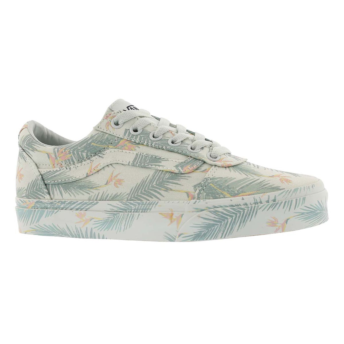 Women's WARD tropical green lace up sneakers