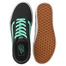 Lds Ward black/green lace up sneaker