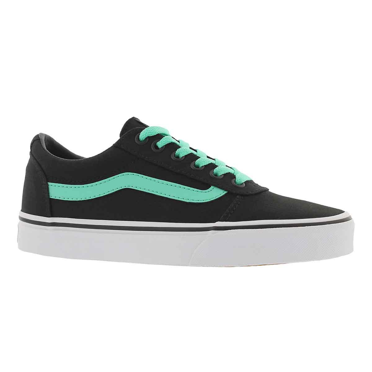 Women's WARD black/green lace up sneakers