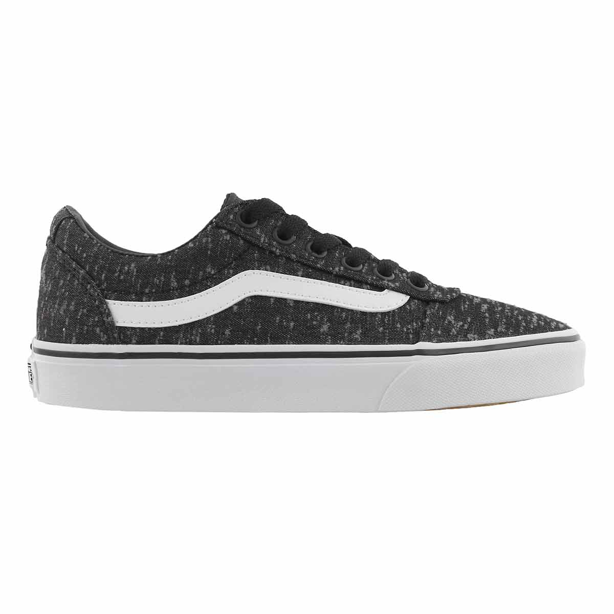 Lds Ward marled blk lace up snkr