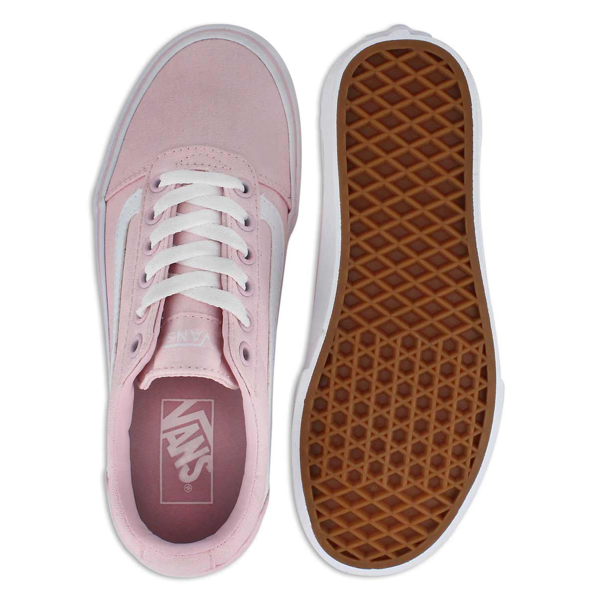 Lds Ward chalk pink lace up snkr
