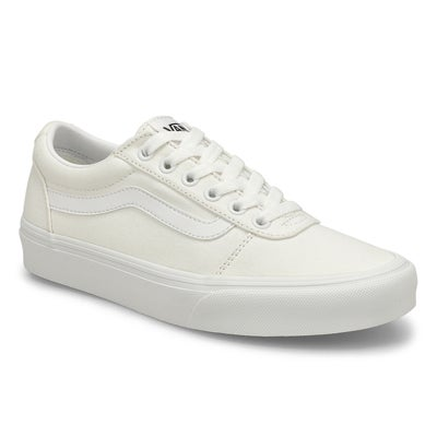 Lds Ward wht/wht lace up snkr