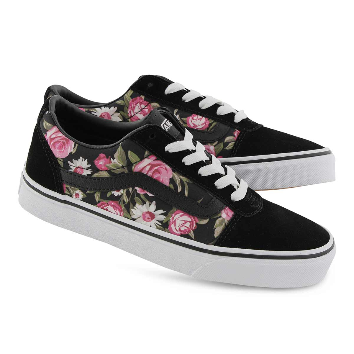 Lds Ward black roses lace up sneaker