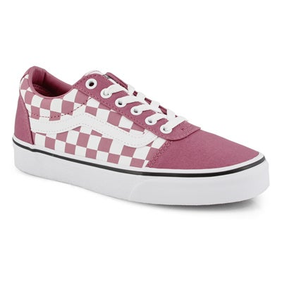 Lds Ward-Checker rose/wht lace up snkr