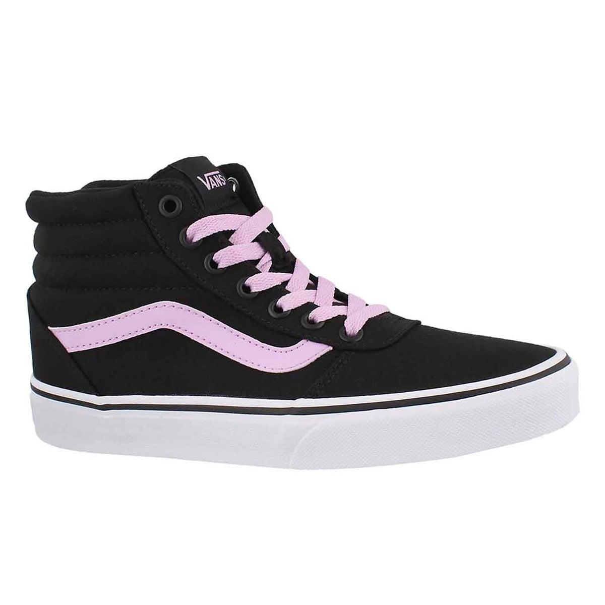 Women's WARD HI black/lilac laceup sneakers