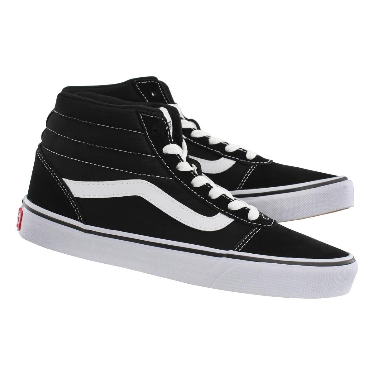 Lds Ward Hi blk/wht laceup sneaker