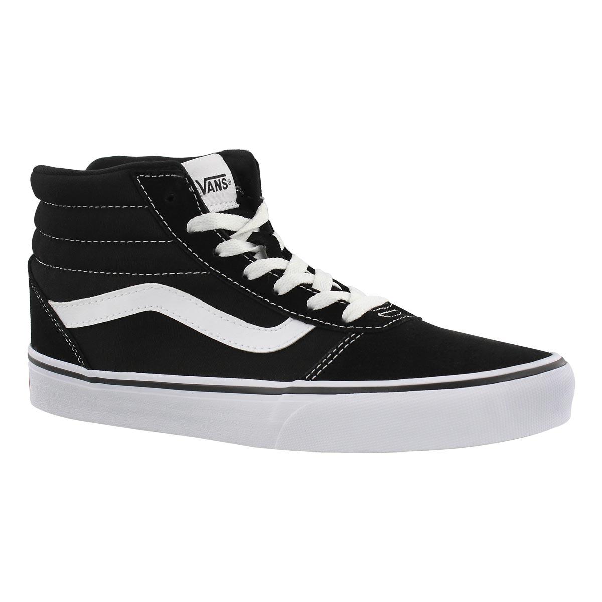 Women's WARD HI blk/wht laceup sneakers