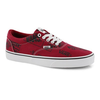 Mns Doheny red logo mix lace up sneaker