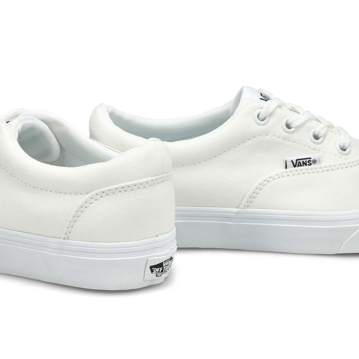 Lds Doheny wht/wht lace up snkr