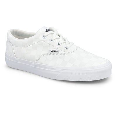 Lds Doheny-Checker wht/wht lace up snkr
