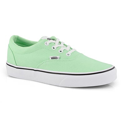 Lds Doheny green ash/wht lace up snkr