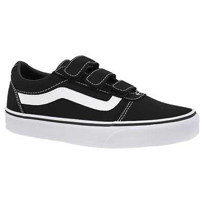 Lds Ward V blk/wht hook & loop sneaker