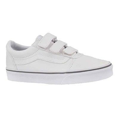 Lds Ward V wht/wht hook & loop sneaker