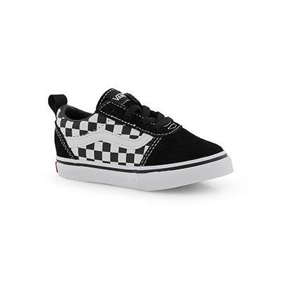 Infs-b Ward Slip On blk/wht chkr sneaker