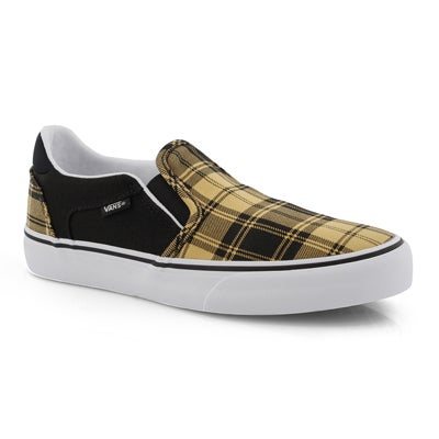Lds Asher Deluxe mng/bk pld slip on snkr
