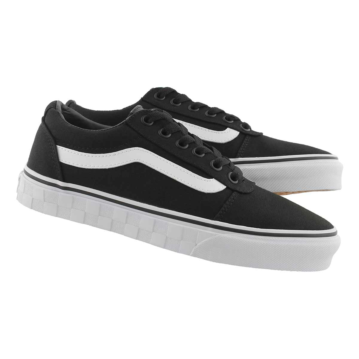 b2d174525 Vans Women's WARD DELUXE black lace up sneake | Softmoc.com
