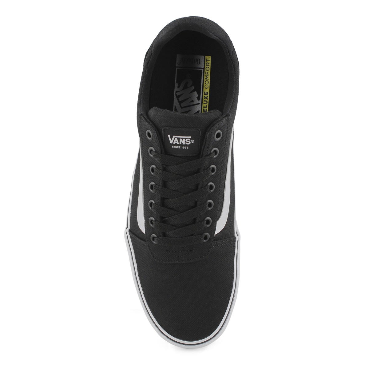 Mns Ward-Deluxe blk/wht lace up snkr
