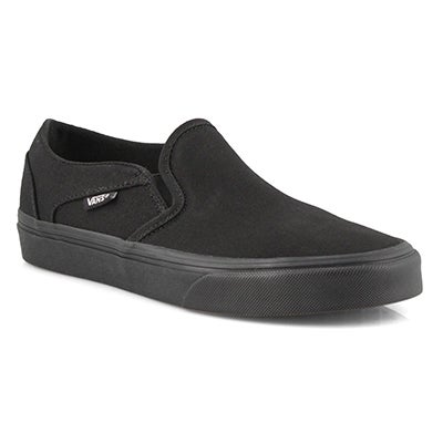 Lds Asher blk/blk slip on snkr